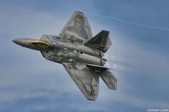 Raptor (~Clubber~) Tags: usa modern airplane fighter aircraft aviation flight jet raptor f22 usaf langley warplane