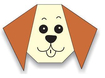 diagram model origami kepala anjing klub origami indonesia