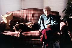 grandma (Jacob Seaton) Tags: christmas grandma dog grandmother couch
