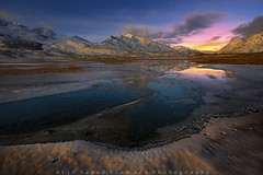 Full Moon Magic.. (M Atif Saeed) Tags: blue pakistan light sunset mountain lake snow mountains reflection nature water colors night clouds stars landscape star frozen northernareas shandur ghizer atifsaeed