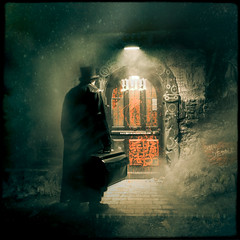 From Hell (Midnight - digital) Tags: door cinema cold dark scary mood darkness fear gothic victorian 666 evil atmosphere steam creepy hyde killer tophat psychokiller mysterious horror psychopath dread symbols scared cinematic whitechapel alanmoore jekyll jacktheripper ripper 999 fromhell jekyllhyde theripper