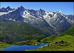 Lac de Fentre (2512m) And The Massive of Mont Blanc. The area of the Great St Bernard pass , Val Ferret . Switzerland / Italy / France .July 24,2008. no. 5717. (Izakigur) Tags: italy alps schweiz switzerland ferret europa europe flickr italia suisse suiza swiss feel helvetia svizzera fentre wallis valais dieschweiz suizo aoste romandie  montjoux myswitzerland lasuisse montdolent greatstbernardpass coldugrandsaintbernard  gransanbernardo  lacdefentre izakigur valledaoste coldubastillon cantonduvalais  suisia laventuresuisse izakigur2008 mygearandme izakiguralps colledelgransanbernard grossersanktbernard lapointededrne