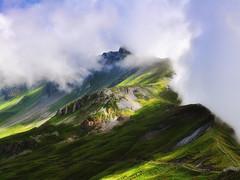 Planplatten (2245 m) (ceca67) Tags: light mountain alps green nature fog clouds landscape schweiz switzerland photo nikon swiss mount 2011 d90 ceca planplatte