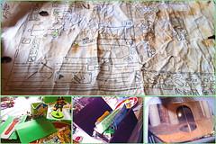 Xmas Treasure Hunt (Damana) Tags: xmas game green dinner treasure map hidden gifts presents clue scratchingpost
