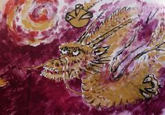 Year of the Dragon : Kitano Tenman-gū Shrine (Rishasoul) Tags: new japan kyoto dragon year newyear 京都 日本 鳥居 2012 京都市 関西地方 kitanotenmangūshrine