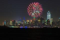 NYC Fireworks (Kai Eiselein) Tags: nyc newyorkcity newyork minolta fireworks manhattan sony celebration newyearseve statueofliberty alpha gotham bigapple amount 80200 newyorkharbor hsg a700
