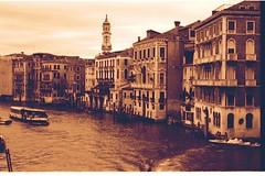 Canal Grande (Abo's) Tags: venice sepia analog nikon monochromatic laguna venezia rialto abo seppia canalgrande nikonfm ilfordfilm ilfordfp4plus125asa fabiocappellari