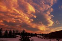 Sunset clouds over Bluebird Estates