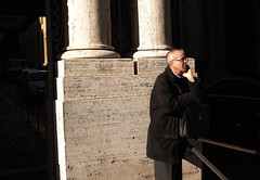 what's he waiting for (xiaoran.fr) Tags: trip travel italy rome roma europe italia candid streetphotography sigma  foveon streetshot vaticancity    x3   dp2  41mm  sigmadp dp2s dp2x dp2m dp2merrill
