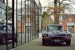 E-Type 2+2 Coup V12 (Raoul Automotive Photography) Tags: auto old blue 2 black color reflection building history glass car dark star 22 purple martin sony parking tripod wide band engine ferrari f e type parked editing jaguar mm 1855 alpha f18 dslr 18 50 hama aston dt circular astonmartin edit coup dealer 61 etype v12 pl 55200 filer kenko a230 fisker polarisation a230l