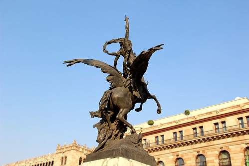 Statue in front of Palacio de Bellas Artes, Mexico City