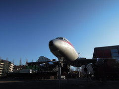 Last shot of the CV-990 (kevincrumbs) Tags: luzern lucerne sr airliner swissair convair verkehrshaus convair990 swissmuseumoftransport dopplr:explore=re81 convaircv990 hbicc convair990coronado