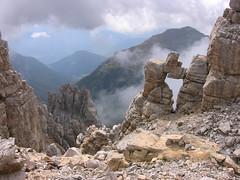 SDTIROL, Dolomiten, Felsformation im Latemar  - 416/95