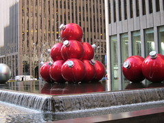 IMG_0569 (tocej) Tags: christmas nyc exxonbuilding giantchristmasornaments
