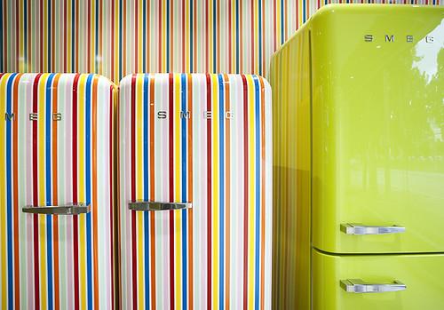 fridge retro 50s refrigerator smeg 50style frigoriferocolorato frigorifericolorati smegshowroom coloredfridge