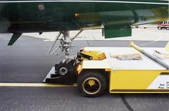 LifTow towbarless tug pulling an aircraft