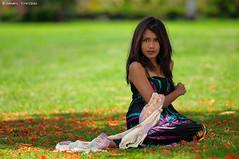 Bokehlicious Deeya [1] (DanielKHC) Tags: mauritius model deeya beerjafan portrait woman green flamboyant flowers strobist sb900 nikon d300 nikkor70200mmf28vrii danielcheong danielkhc incompletestrobistinfo removedfromstrobistpool seerule2