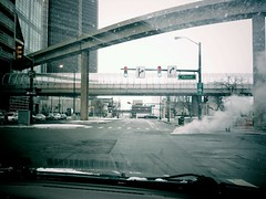 Welcome Home (dmitriyk) Tags: cameraphone winter snow downtown driving michigan detroit dirty steam peoplemover windshield upstream android 313 larned droidbionic