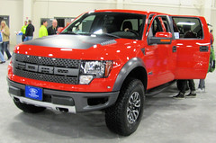 Ford F150 Rapter (Eyellgeteven) Tags: red ford truck 4x4 fast pickup f150 madeinusa americanmade fourwheeldrive lifted racetruck rapter blueoval eyellgeteven fordrapter