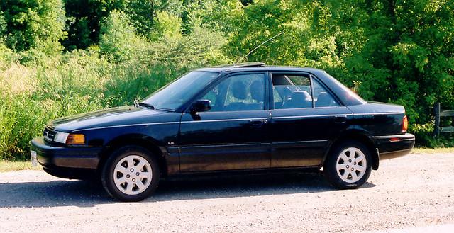 car wisconsin automobile arboretum 1993 greenbay mazda protege lx yashicafx7 uwgb cofrin