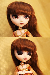 Lolita in Gold (Mariko&Susie) Tags: cat canon eos gold golden cool eyes doll dolls dress barbie klimt cm gustav 600 bauer pullip 27 adele bloch obitsu adsiltia marikosusie