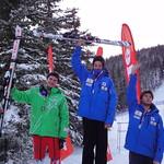 Nakiska Miele Cup, 15th Jan 2012 - SL top 3 J1 men.