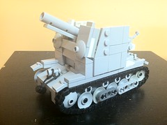 sig 33 (phelipe247) Tags: self germany toys gun lego 33 plastic ww2 sig propelled spg