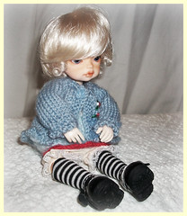 Ƹ̵̡Ӝ̵̨̄Ʒ小さくて可愛いƸ̵̡Ӝ̵̨̄Ʒ (Bunraku Doll) Tags: cute girl doll ps event tiny blonde bjd custom dollfie limited agnieszka karol dz dongdong かわいい 可愛い pinkskin 女の子 小さい dollzone latisize 小さくて可愛い