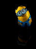 Despicable Me (ihavedirt) Tags: light black macro reflection toy goggles overalls worker minion despicableme