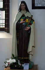 Statue of St Theresa of Lisieux (Bolckow) Tags: flowers church saint statue religious image nun crucifix rosary picnik sttheresa thelittleflower