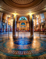 St George's Hall - Interior (Richard Deane) Tags: panorama st architecture liverpool photoshop hall floor interior columns tiles nik marble milton georges hdr topaz photomatix vertorama