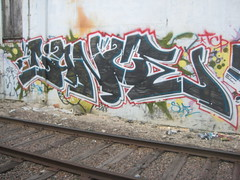(takingcityproperty) Tags: art graffiti florida miami traintracks dunce tcp blackfill bigassfuckingdicks