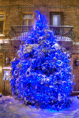 2012_01_27_09 (SteveQc) Tags: christmas winter tree night quebec hiver noel quebeccity nuit hdr sapin 2012 vieuxqubec villedequbec steveleclerc