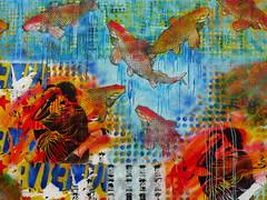 (Gabri Le Cabri) Tags: fish miguel wall stencil charlotte 4 fotolog exhibition tango series slideshow glc hess vertige diaporama gabis mordidadetango gabrilecabri centrebarbara