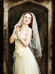 Ivory (Szmytke) Tags: door uk wedding training pose model dress ivory flame pete bristo associate bipp