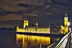 Westminster and Big Ben in Gold