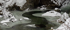 Meandering through the ice (Cold Mountain) Tags: winter cold ice water powershot gorge g12 breitach klamm