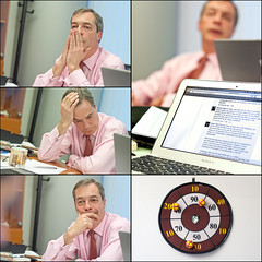 Nigel Farage during a Facebook chat, Wednesday...