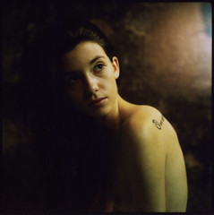 stare (colour) (philippe bourgoin) Tags: polaroid marion hasselblad expired fourlines vivacolor