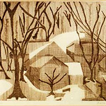 "<b>Winter Haze</b><br/> Cosette Cross ""Winter Haze"" Etching, 1963 LFAC #531<a href=""http://farm8.static.flickr.com/7029/6852264117_8c0fc141f9_o.jpg"" title=""High res"">∝</a>"