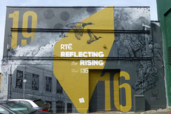 Reflecting the Rising, Dublin. (piktaker) Tags: ireland streetart art graffiti wallart eire spray rte spraypainting roi 1916 easterrising republicofireland