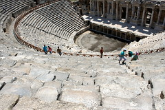 pamukkale amphitheatre (kexi) Tags: old architecture canon turkey ancient amphitheatre may amphitheater pamukkale 2015 instantfave