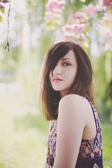 (lauraderoeckphotography) Tags: light sunlight colors girl sunshine cherry spring model soft dof blossom bokeh pastel springtime