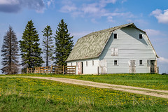 Sending Out Resumes (henryhintermeister) Tags: summer minnesota clouds rural outdoors farming barns oldbarns nostalgia farms pastoral countryliving worthington