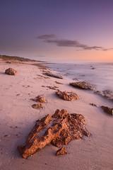 Kalbarri Pinks (Rodney Campbell) Tags: ocean sunset rocks waves au australia wa westernaustralia cpl kalbarri gnd09