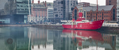 Not out on the bar but in the bar having a drink on the drink (alun.disley@ntlworld.com) Tags: england panorama water liverpool docks buildings reflections boats transport craft albertdock canningdock portsandharbours liverpoolcitycenter