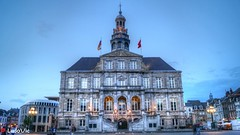 Maastricht Town Hall (Ld\/) Tags: city trip blue netherlands maastricht town hall hour paysbas hdr stadhuis limburg limbourg