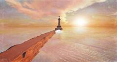 Silence (alidamor.anatra) Tags: sea sun lighthouse water clouds landscape meer sundown romance dreaming sl secondlife sim leuchtturm