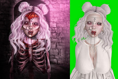 pile up before and after ( c ) Tags: dark dead skeleton darkness graphic sweet smoke goth style second secondlifephotoshopworkclientbeforeandafterphotomanipulationpinklingeriedrawinghairpinkpetals