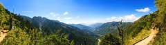 View from trail of Mt. Jade, Taiwan. (Evo-PlayLoud) Tags: trees sky panorama mountain mountains tree green canon landscape scenery hiking taiwan panoramas bluesky tokina  mtjade    550d t116      1116mm tokina1116mmf28 canon550d canoneos550d